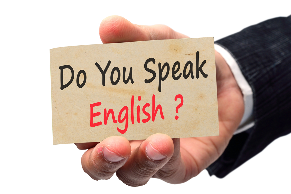 Do you speak English? sign