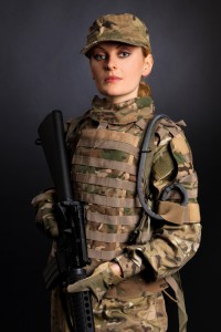 A female marine