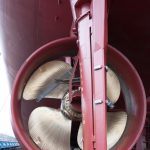 Ships propeller and rudder